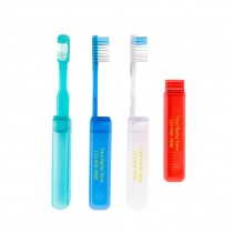 Custom OraLine V-Trim Economy Travel Toothbrushes