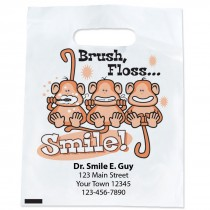 Custom Brush, Floss, Smile Monkey Bags