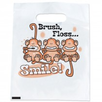 Brush, Floss, Smile Monkeys Bags