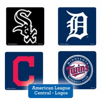 American League Central Logos Stickers