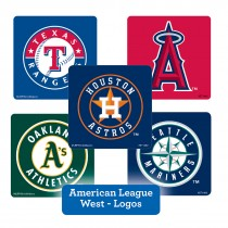 American League West Logos Stickers