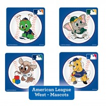 American League West Mascots Stickers