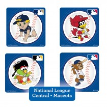 National League Central Mascots Stickers