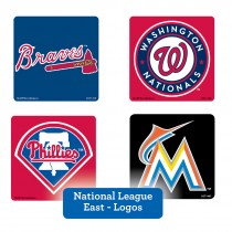 National League East Logos Stickers