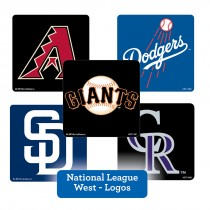 National League West Logos Stickers