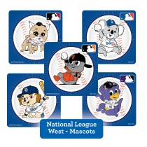 National League West Mascots Stickers
