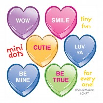 Candy Hearts Mini Dot Stickers