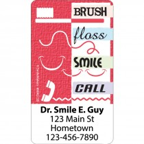 Brush Floss Smile Call Re-stick-its