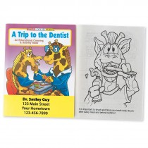Custom A Trip To the Dentist Coloring Books