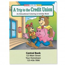 Custom Trip to Credit Union Coloring Books
