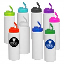 Custom 32 oz Plastic Water Bottles Sipper Lid