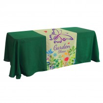 "Custom 28"" x 72"" Full Color Table Runner"