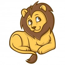Jungle Friends Lion Wall Cling