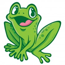 Jungle Friends Frog Wall Cling