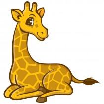 Jungle Friends Giraffe Wall Cling