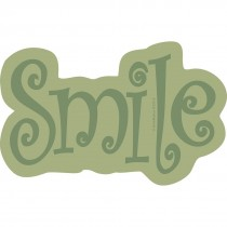 Green Smile Wall Cling