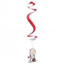Peanuts Valentine's Hanging Swirls