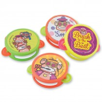 Brush, Floss, Smile Mini Tambourines