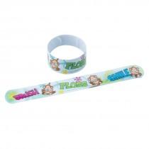 Brush, Floss, Smile Monkey Slap Bracelets