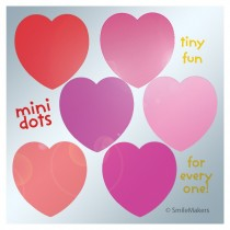 Foil Heart Mini Dots