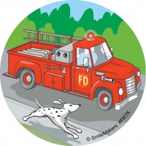 Fire Trucks Stickers