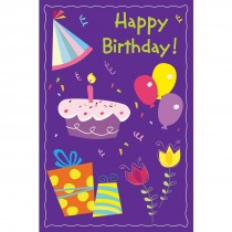 Happy Birthday Party Greeting Cards with Personalized Envelopes