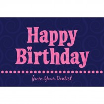 Pink Happy Birthday Greeting Cards