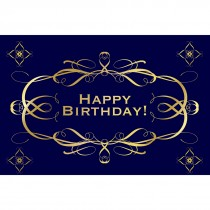 Navy and Gold Birthday Greeting Cards