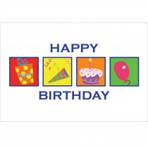 Birthday Squares Greeting Cards