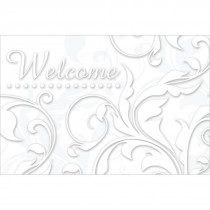 Welcome Floral Swirls Greeting Cards