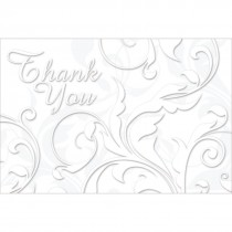 Thank You Floral Swirls Greeting Cards
