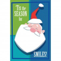 Santa Smiles Greeting Cards
