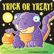 Glow in the Dark Halloween Dragon Stickers