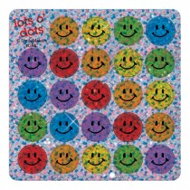 Sparkle Multicolored Smiley Face Mini Stickers