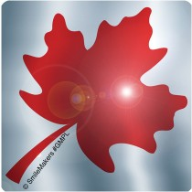 Foil Maple Leaf Shaped Stickers