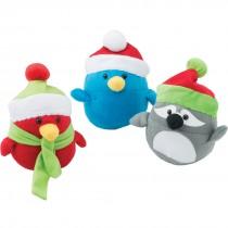 Plush Santa Birds