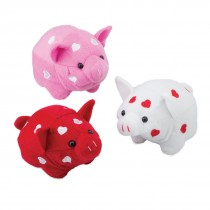 Valentine's Day Plush Pigs