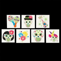 Day of the Dead Glow in the Dark Temporary Tattoos