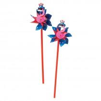Flamingo Patriotic Pinwheels