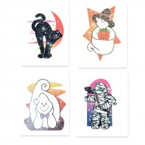 Glitter Halloween Temporary Tattoos