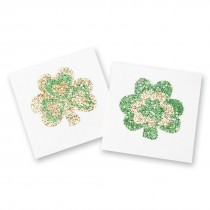 Glitter Shamrock Temporary Tattoos
