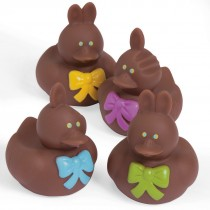 Chocolate Bunny Rubber Ducks
