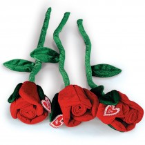 Plush Red Roses