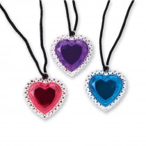 Jumbo Jewel Heart Necklaces