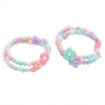 Flower Bead Coil Bracelets