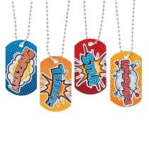 Superhero Dog Tag Necklaces