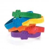 Paw-some Rubber Bracelets