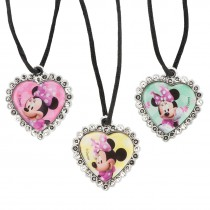 Minnie Mouse Jewel Heart Necklaces