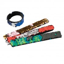 Reversible Sequins Slap Bracelets