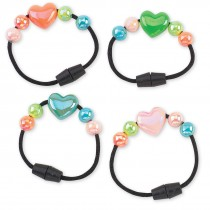 Iridescent Heart Bracelets